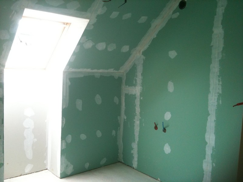 PMVR CONSTRUCTIONS Plâtrerie - Isolation mur salle de bain